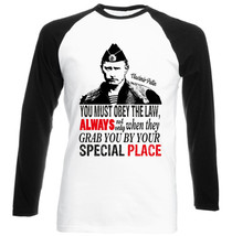 Putin You Must Obey The Law - New Black Sleeved Baseball Cotton Tshirt - $26.93