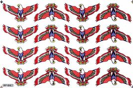 D539 Eagle Wing Bird Sticker Decal Racing Tuning Size 27x18 cm / 10x7 inch - $3.49