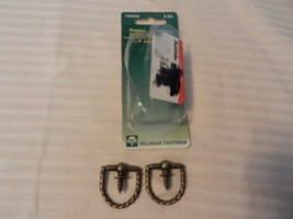 """Hillman Braided Ring Hanger 1.25"""" Antique Brass Package of 2 #122224 - $3.70"""