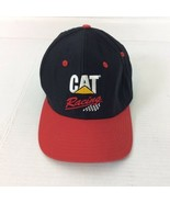 CAT Racing Black Red 100% Cotton Snapback Adj Baseball Cap Ball Hat - $17.75