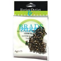 Eyelet Outlet Round Brads 4mm 70/Pkg-Brushed Brass - $8.03