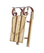 Darice Christmas Sleigh Decor: Wood/Metal, 9 x 19.75 inches w - $59.99
