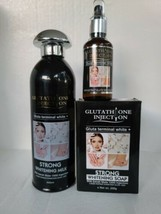 SET OF GLUTATHIONE INJECTION GLUTA TERMINAL WHITE. SERUM,LOTION,SOAP - $123.75