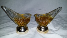 LOT OF 2 AVON HERES MY HEART COLOGNE SONG BIRD DECANTER VINTAGE 1.5 OZ. - $9.50