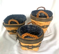 Longaberger 1999 Collectors Club Baskets set of 3 Combos Renewal Thyme Signed - $48.99