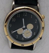 Disney Watch Unique Seconds Hand in Mickey Mouse Silhouette Two Tone Watch NIT - $123.75