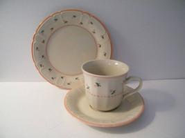 Mystique China Peach Cup Saucer Bread Plate, Vi... - $12.95