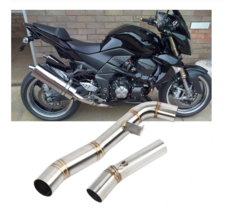 Motorcycle Exhaust Contact Middle Pipe Stainless Link Connector for Kawa... - $106.19