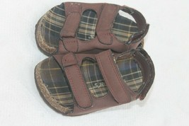 Carters Baby Boys brown Cork Sandals Size 6 - $4.95