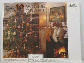 Vogue Craft Pattern 2970 Christmas Tree Skirt Stockings Ornaments Vintag... - $10.88