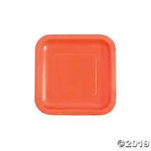 Coral Square Paper Dessert Plates - $6.24