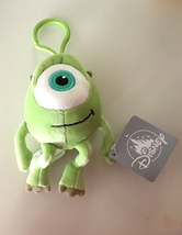Disney Parks Mike Monsters,Inc Big Head Plush Purse Hanger Keychain Key Chain - $19.90