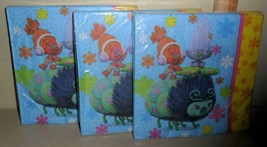 48 Party Napkins ~ Trolls the Movie ~ 3 Packs of 16 Sealed New - $1.93