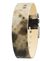 Moog Paris Eclectic Calf Leather Bracelet for Women, Python Pattern, Pin... - $46.65