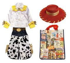Disney Store Toy Story Girls Size 4 Jessie Costume Set w/ Cowgirl Hat & Bag - $64.30