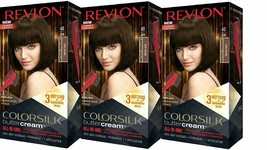 (3 Pack) Revlon ColorSilk Buttercream Permanent Hair Color 40 / 30N DARK BROWN - $29.69
