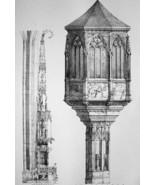 GERMANY Nuremberg Details at St. Sebaldus & Lawrence - SUPERB 1843 Antiq... - $18.00