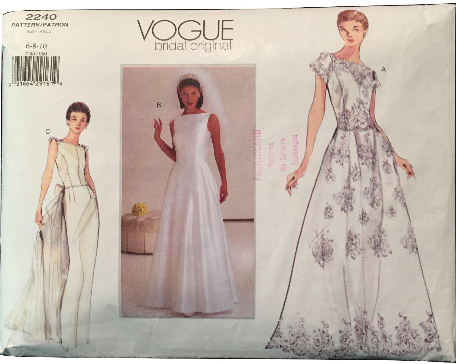 d051396355bf2 Vogue 2240 Close Fit Wedding Gown w Lace and 50 similar items