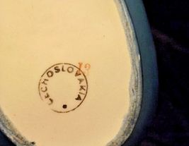 Czechoslovakia Ceramic Basket AA18-1368-K Vintage image 5