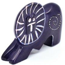Crafts Caravan Hand Carved Soapstone Purple Lion Figurine Made in Kenya image 5
