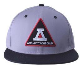 Asphalt Yacht Club Bermuda Triangle Black Grey 5 Panel Snapback Baseball Hat NWT