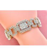 ANTIQUE ART DECO 5.25ctw MINE & ROSE DIAMOND SAPPHIRE PLATINUM BIG BRACE... - £10,221.16 GBP