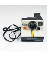 Vintage Polaroid SX-70 One Step white Rainbow stripe land camera UNTESTED - $46.42