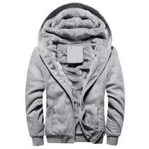 Winter Warm Jacket Men Hooded Casual Wool Thickened Sweatshirts Coat Zip... - $49.65