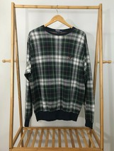 VTG Polo Ralph Lauren Men's Plaid Crest Pullover Crewneck Sweater Size L... - $18.17
