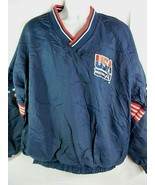 1992 Olympic USA Basketball Jacket Pullover XXL Dream Team Warm Up Ringer - $123.72