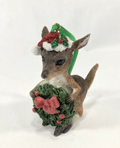 Danbury Mint Baby Animals Ornament - NWT Kangaroo Christmas Wreath - $24.18