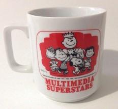 Peanuts Snoopy Vintage Coffee Mug Ceramic Multimedia Superstars Charles ... - $39.59