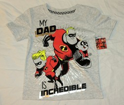 New Disney Incredibles Toddler Shirt Size 2T My Dad is Incredible Father... - $9.89