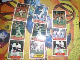 1981 1982 Fleer Red Sox Baseball 9 Card Lot Carl Yaztrzemski + More image 4