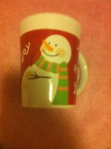 SAN MARINO  COFFEE MUG / CUP--CHRISTMAS--SNOWMAN--JOY--- FREE SHIP--VGC - $13.09