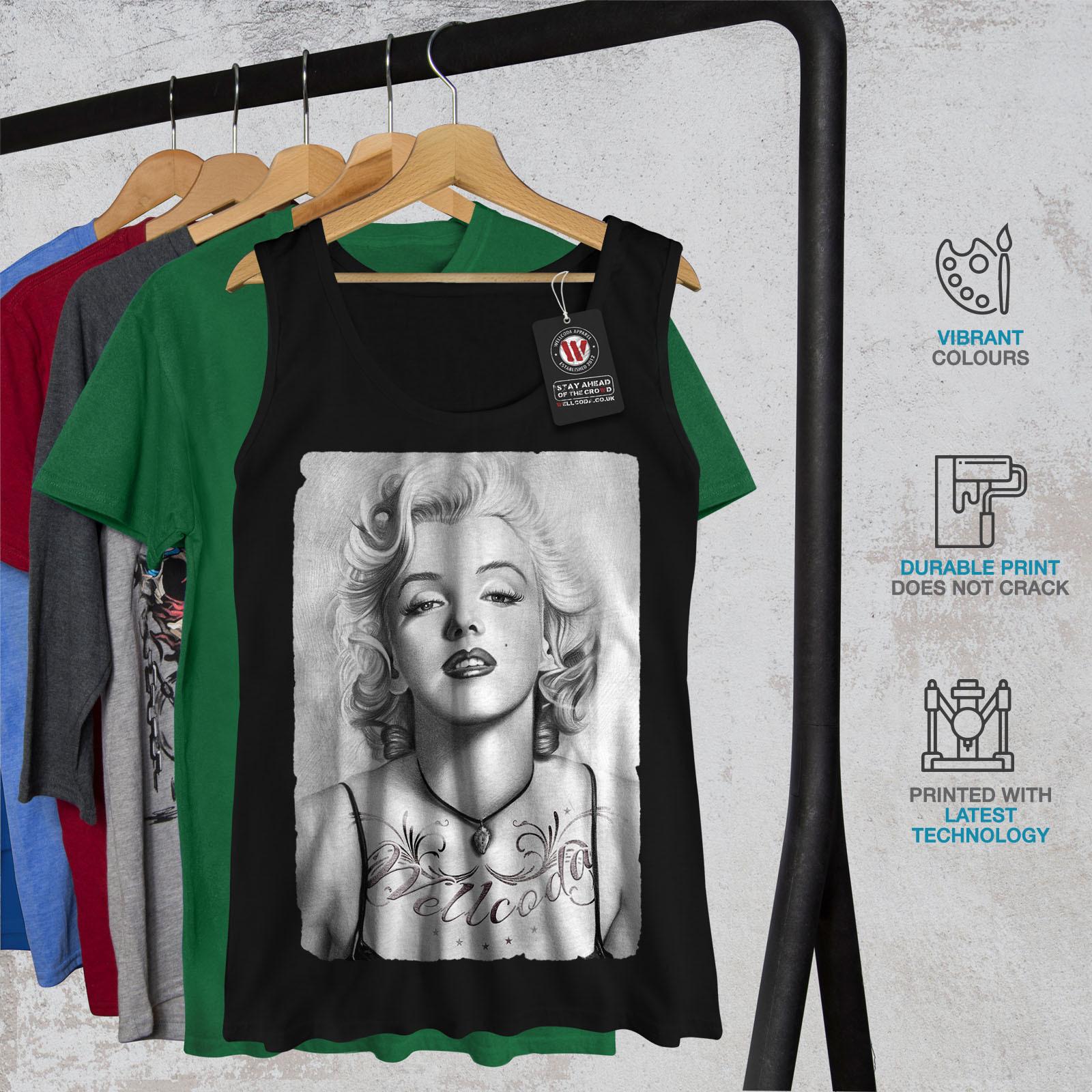 Marilyn Monroe Chick Tee Lady Idol Women Tank Top image 6