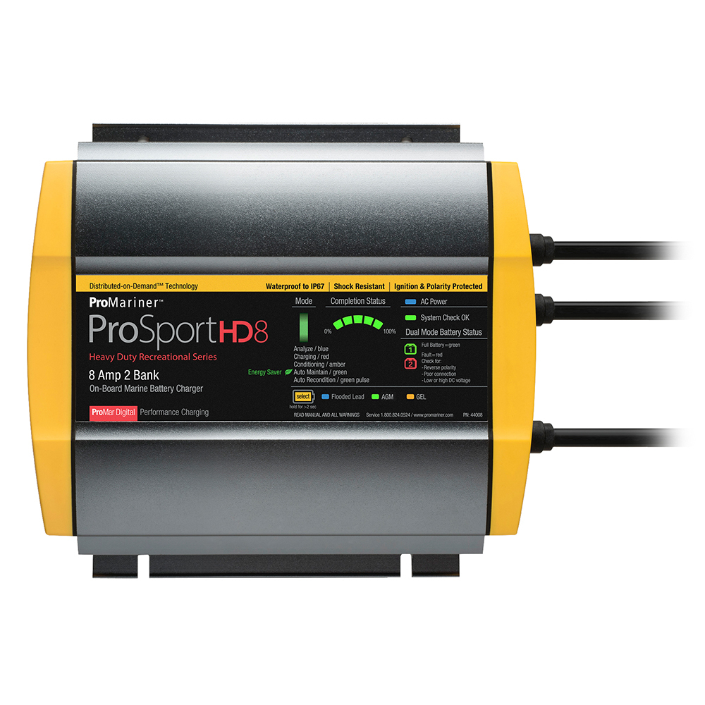 Primary image for ProMariner ProSportHD 8 Gen 4 - 8 Amp - 2 Bank Battery Charger [44008]