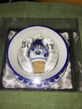 NIB Bombay Wine Coaster and Stopper Blue White ... - $10.99