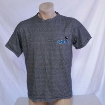 VTG 90s San Jose Sharks T Shirt The Game Striped NHL Hockey Graffiti Log... - $11.50