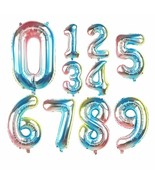 Foil Balloons Rainbow Iridescent Number Balloon Digital 32inch Gradient ... - $2.31+