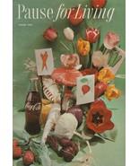Pause for Living Spring 1959 Vintage Coca Cola Booklet Table Decor Flowe... - $6.92