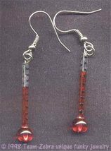 Funky Glass Fever Thermometer Earrings Sexy Nurse Medical Charms Costume Jewelry - $8.97