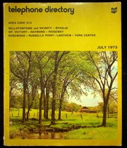 July 1973 Bellefontaine Ohio United Telephone Directory With Yellow Pages - $17.05