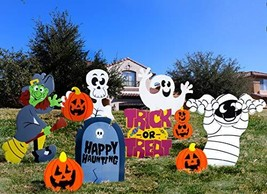 JOYIN Friendly Halloween Corrugate Yard Stake Signs 9 Pieces for Hallowe... - $19.48