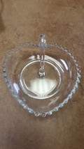 Imperial Candlewick Elegant Glass Heart Shaped Dish with Handle Vintage ... - $31.36