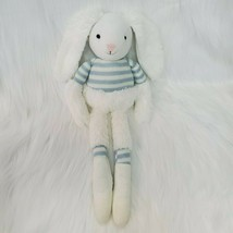"16"" Manhattan Toy Twiggies Billy Bunny Plush Knit White Blue Stripes Rab... - $9.97"