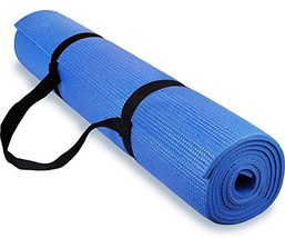 Spoga 1/4-Inch Anti-Slip Exercise Yoga Mat with Carrying Strap, Dark Blue - $15.41