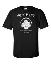 Club T-Shirt Men's Techno Music Life Heart Headphones DJ Dub House Party... - $23.75+