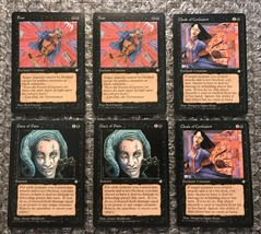 Fear 2x, Cloak of Confusion 2x, Gaze of Pain 2x - Black Ice Age Cards - MTG Lot - $3.13