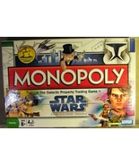 Star Wars Monopoly Game Clone Wars 2008 - $23.16